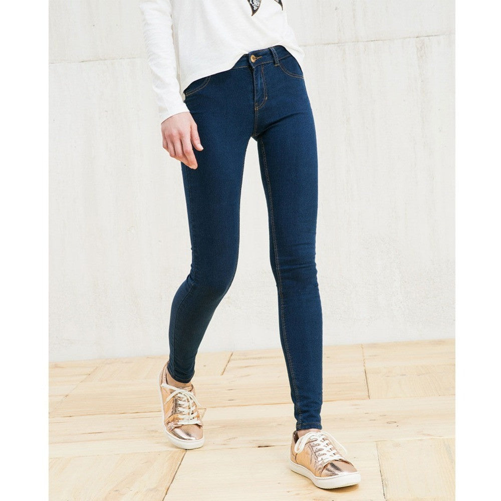 Casual Slim Dark Blue Mid Waist Zipper Elastic Stretch Classical Skinny Brand Jeans - Shopatronics - One Stop Shop. Find the Best Selling Products Online Today