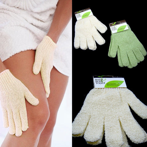2 Pairs Shower Exfoliating Wash Skin Spa Bath Gloves Massage Loofah Scrubber New - Shopatronics - One Stop Shop. Find the Best Selling Products Online Today