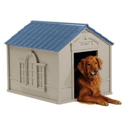 Suncast Deluxe Personalized Large Dog House DH 350 - Shopatronics