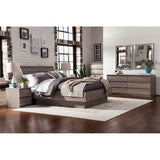 Laguna Queen Bed With Headboard, Truffle - Shopatronics