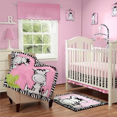 Baby Boom I Luv Zebra 3pc Crib Bedding Set, Pink - Shopatronics - One Stop Shop. Find the Best Selling Products Online Today