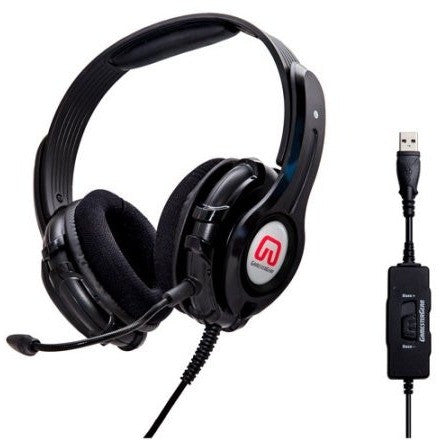 Syba GamesterGear OG-AUD63090 Cruiser PC210-I USB Gaming Headset, Black - Shopatronics