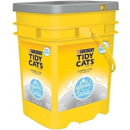Purina Tidy Cats Clumping Cat Litter with Glade Tough Odor Solutions for Multiple Cats 35 lb. Pail - Shopatronics
