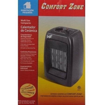 Comfort Zone Ceramic Heater, Black - Shopatronics - One Stop Shop. Find the Best Selling Products Online Today