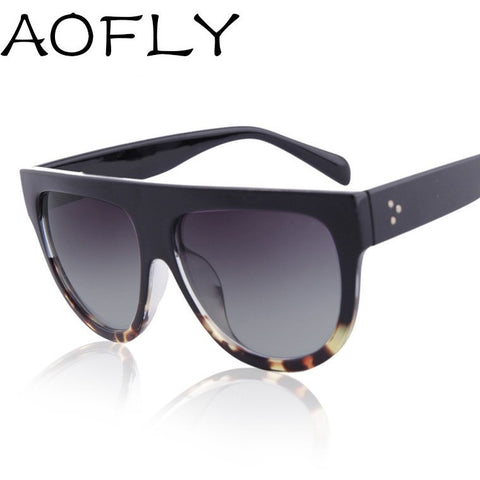 AOFLY 2016 Fashion Sunglasses Women Flat Top Style Brand Design Vintage Sun glasses Female Rivet Shades Big Frame Shades UV400 - Shopatronics - One Stop Shop. Find the Best Selling Products Online Today