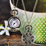 Antique Bronze Lotus Pattern Retro Quartz Pocket Watch with Necklace Watch Women Men Watch - Shopatronics - One Stop Shop. Find the Best Selling Products Online Today