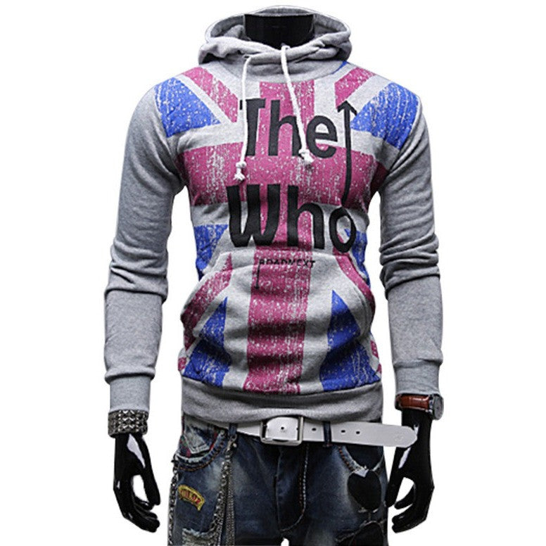 Autumn New fashion casual hoodies Men's the Union flag printed sweatershirt sport jacket pull over coat tracksuit with a hood - Shopatronics - One Stop Shop. Find the Best Selling Products Online Today