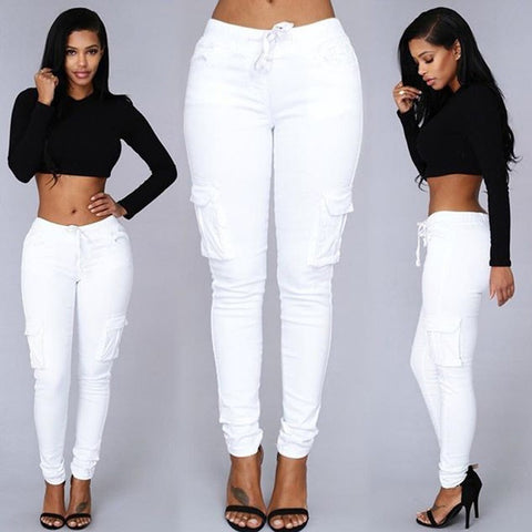Autumn Trousers For Women  2016 Long Cargo Women's Pants Drawstring Casual Pantalon Femme White Female Pants Women Plus Size - Shopatronics - One Stop Shop. Find the Best Selling Products Online Today
