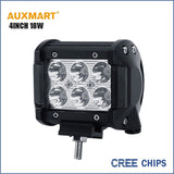 Auxmart Cree Chips 4Inch 18W spot beam LED work Light Bar Offroad Tractor Truck 4x4 SUV ATV Motorcycle headlight fog lamp 12 24V - Shopatronics - One Stop Shop. Find the Best Selling Products Online Today