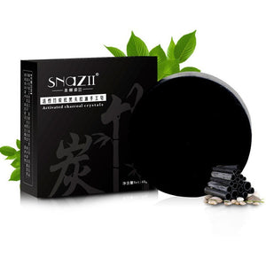 Bamboo charcoal handmade soap Treatment skin care natural Skin whitening soap blackhead remover acne treatment oil control 1Pcs - Shopatronics