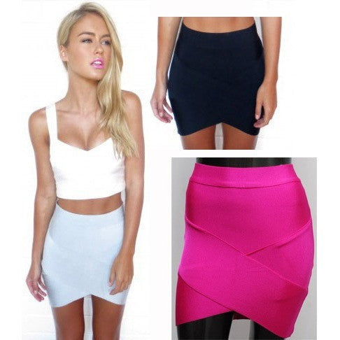 Bandage Rayon Good Elastic Women Skirts Mini Sexy Slim Pencil Clubwear Suitable Casual Formal Candy Multi Color Clothing HL135-2 - Shopatronics - One Stop Shop. Find the Best Selling Products Online Today