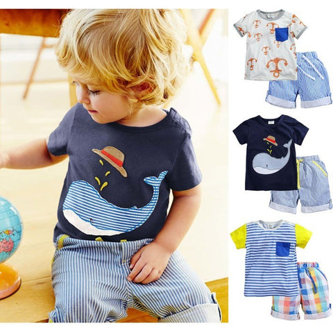 Branded 100% Cotton 2016 Baby Boys Clothing Toddler 2pcs Children Suits Summer Baby Kids Clothes Clothing Sets Short Sleeve Boys - Shopatronics - One Stop Shop. Find the Best Selling Products Online Today