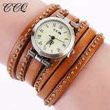 CCQ Vintage Rivet Leather Bracelet Watches Fashion Women Quartz Watches Ladies Quartz Watch Reloj Mujer Relogio Feminino 1158 - Shopatronics - One Stop Shop. Find the Best Selling Products Online Today