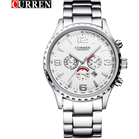 CURREN Brand Top Luxury Full Steel Men Watches Men Business Quartz Watch Auto Date Waterproof Relogio Masculino Relojes Hombre - Shopatronics - One Stop Shop. Find the Best Selling Products Online Today