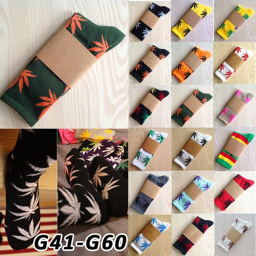Calcetines Weed Leaves style knee high socks Meias femininas Masculinas Leaf Printed Pattern Cotton Women boot long socks G41 - Shopatronics - One Stop Shop. Find the Best Selling Products Online Today