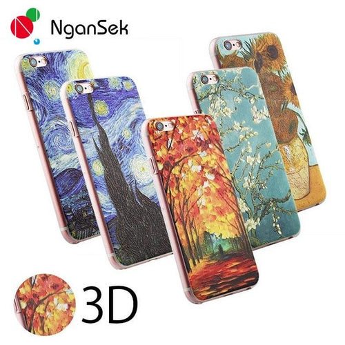 Cell Phone Protective Cover For Apple iPhone SE 4 4s 5 5s 6 6plus 6s 6splus 3D Patterns Van Gogh Starry Night Phone Case - Shopatronics - One Stop Shop. Find the Best Selling Products Online Today