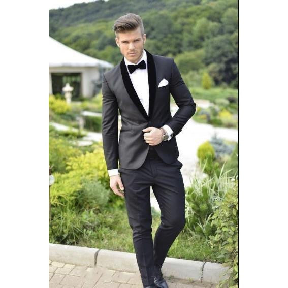 Classic Royal Blue Groom Tuxedos Cheap Slim Fit Notched Lapel 2016 Vintage Wedding Prom Men Suit ( jacket+Pants+tie) - Shopatronics - One Stop Shop. Find the Best Selling Products Online Today