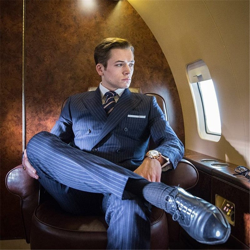 Classic Stripe Suits Men Business suit costume homme kingsman costume homme mariage mens suits wedding groom mens suit - Shopatronics - One Stop Shop. Find the Best Selling Products Online Today