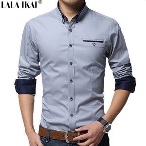 Cotton Men Dress Shirts 5XL Oversized Cotton Solid Long Sleeve Man'S Shirt Fitness 2016 Men Business Shirts - Shopatronics - One Stop Shop. Find the Best Selling Products Online Today