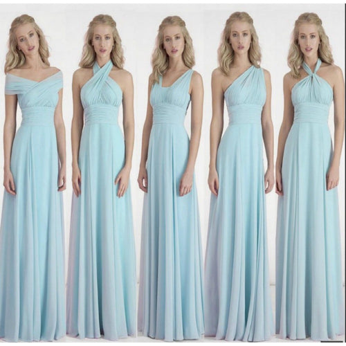 Custom Color&Size!New Chiffon Variety to wear Convertible Dress long bridesmaid dresses wedding dress Prom party dress women - Shopatronics
