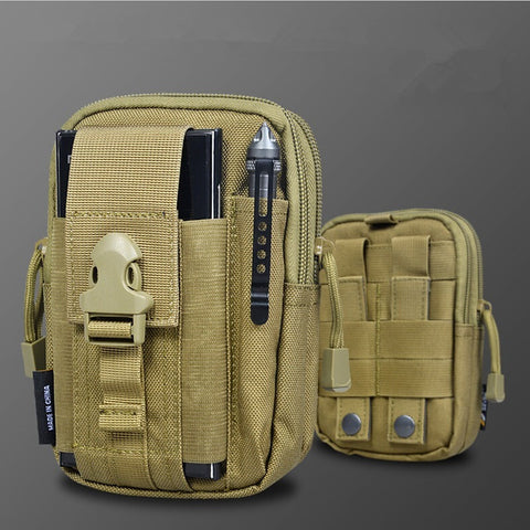 D30 Tactical Molle Waist Bags Men's Outdoor Sport Casual Waist Pack Purse Mobile Phone Case for SAMSUNG Note 2 3 4 1000D CORDURA - Shopatronics