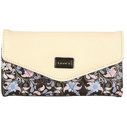Dollar Price Ladies Wallet Female Famous Brand Purse Women Envelope 3 Folded Flowers Printed Purse Money Ladies Wallet Female - Shopatronics
