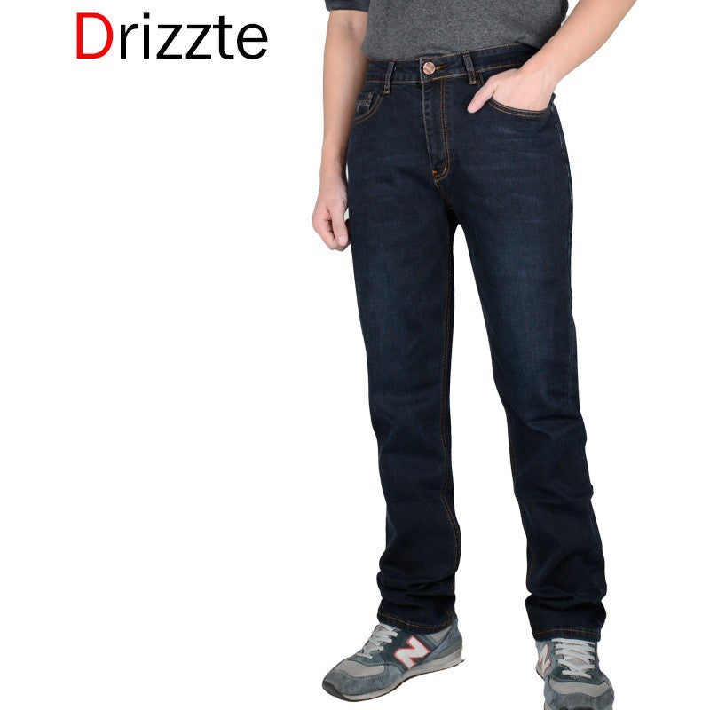 edc2830324d Drizzte Spring Summer Full Long Men s Jeans Brand 28 to Size 42 Black Blue  Slim Fit