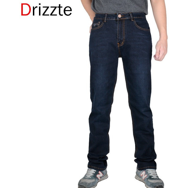 87c311ebb0d Drizzte Spring Summer Full Long Men s Jeans Brand 28 to Size 42 Black Blue  Slim Fit