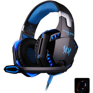EACH G2000 Deep Bass Game Headphone Stereo Surrounded Over-Ear Gaming Headset Headband Earphone with Light for Computer PC Gamer - Shopatronics