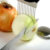 Easy Onion Holder Slicer Vegetable Tools Tomato Cutter Stainless Tteel Kitchen Gadgets No More Stinky Hands Kitchen Accessories - Shopatronics