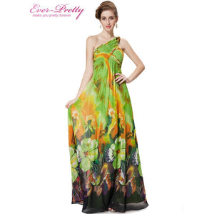 Evening Dresses Ever Pretty Sexy Purple Brand New Style Empire Fashion One Shoulder Long Print Party Gown - Shopatronics