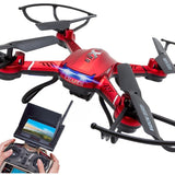F181 RC Quadcopter with Camera HD Remote Control Helicopter CF Mode RTF UFO Drone Distance 300m 37cm*37cm*9cm 300,000 Pixels - Shopatronics