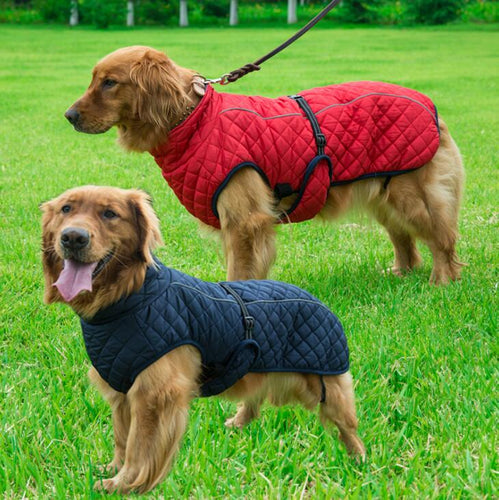 Dog Clothes Winter Thickening Warm Pet Reflective Outdoor Jacket Coat