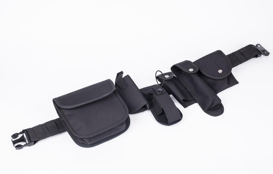 7 pcs Tactical Duty Belt Black Law Enforcement Hutning Equipment System Waist Belt