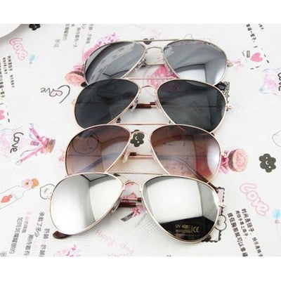 FASHION AVIATOR SUNGLASES SILVER METAL Classic NEW MENS WOMENS SHADES - Shopatronics
