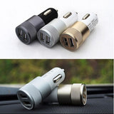 Fashion 12v 24v 2.1A 1.0A Aluminium dual usb 2-port USB Universal Car Charger Adapter  for Normal Usb phone Free shipping - Shopatronics - One Stop Shop. Find the Best Selling Products Online Today