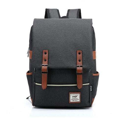 Fashion Canvas Men Daily Backpacks for Laptop Large Capacity Computer Bag Casual Student School Bagpacks Travel Rucksacks 1050tp - Shopatronics