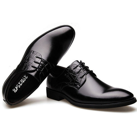 Fashion Men Dress Shoes Luxury Brand Genuine Leather Oxford High Quality Wedding