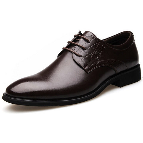 Fashion Men Dress Shoes, Luxury Brand Genuine Leather Oxford, High Quality Men Wedding Shoes, Men Flats valentine's day - Shopatronics - One Stop Shop. Find the Best Selling Products Online Today