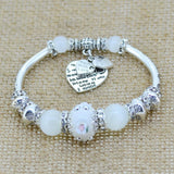 Fashion Silver Plated Jewelry Love Heart Charm  Bracelets & Bangles Glass Beads Strand Bracelets for Women 2016 Fine Jewelry - Shopatronics - One Stop Shop. Find the Best Selling Products Online Today