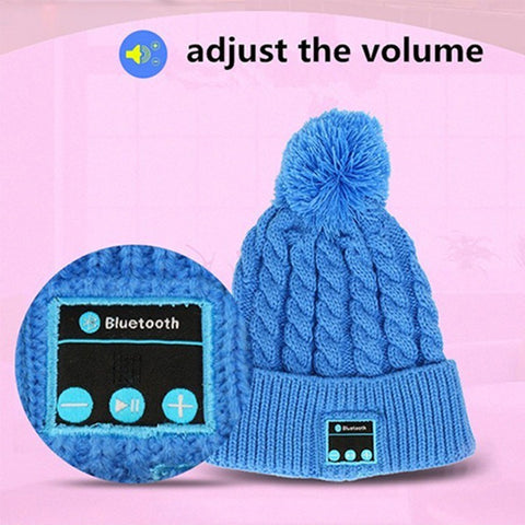 Fashional Warm Bluetooth Hat  Wireless Speaker Bluetooth Hat Receiver Audio Music Speaker Bluetooth Hat Cap Headset Headphone - Shopatronics