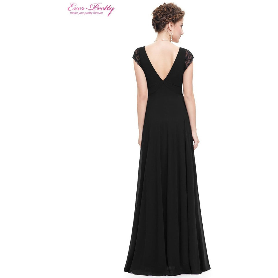 Formal Evening Dresses Lace Black Prom Maxi Summer Evening Dress - Shopatronics
