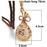 Gold/Silver Plated Long Pendant Necklace Fashion Crystal Sweater Chain For Women Simulated Diamond Jewelry - Shopatronics