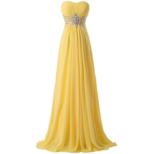 Grace Karin Strapless Chiffon Formal Party Dress Long Evening Dresses Yellow Floor Length - Shopatronics - One Stop Shop. Find the Best Selling Products Online Today
