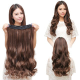 Long 17-29 inch Synthetic Clip In Hair Extensions High Temperature Fiber Curly Hair Extension Multicolor 150g - Shopatronics