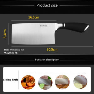 Free Shipping Mikala Stainless Steel Kitchen Knife Chef Cleaver Slicing Vegetable Meat Fish Knives Household Cooking Knife - Shopatronics