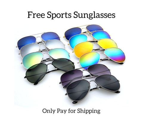 Free Fashion Sunglasses-Sports Sunslasses for Men/Women