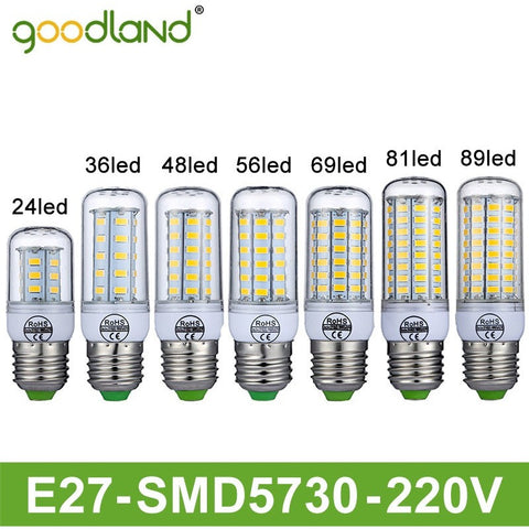Goodland Brand LED Lamp E27 220V LED Light 24/36/48/56/69/81/89LEDs Lampada LED Bulb Christmas Chandelier Lights High Bright - Shopatronics