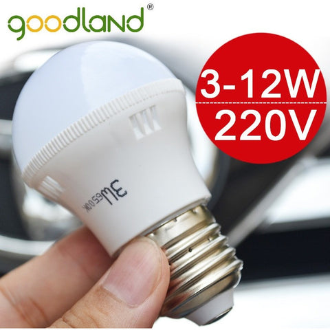 Goodland Brand NEW LED Lamp 3W 5W 7W 9W 12W E27 LED Bulb Light Lighting SMD5730 High Brightness 220V 230V Warm White/White D3-12 - Shopatronics