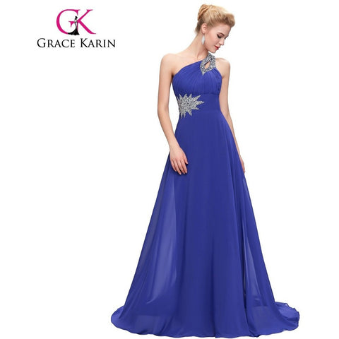 Grace Karin Floor Length Chiffon Bridesmaid Dresses One Shoulder Pink Purple Mint Green Long Bridesmaid Gowns Beading CL2949 - Shopatronics - One Stop Shop. Find the Best Selling Products Online Today